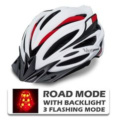 Unisex Cycling Helmet LED Back Light Lightweight Bicycle Outdoor Helmets MTB Cycling Helmet, Bicycle Helmet, Road Cycling, Road Bike, Helmet Brands, Helmet Visor, Bicycle Women, Mtb Bike, Electric Bicycle