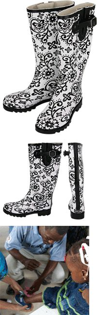Flirty Flowers Rain Boots at The Animal Rescue Site