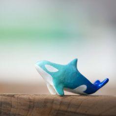 Le Guardian Orca Whale Totem - Blue Ombre by le animalé