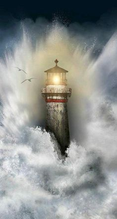 Free Android Wallpaper, Beautiful Places, Beautiful Pictures, Beautiful Artwork, Fantasy Kunst, Lighthouse Pictures, Lighthouse Painting, Beacon Of Light, Beautiful Landscapes
