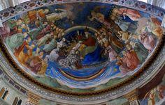 Spoleto, Cattedrale di Santa Maria Assunta, Apsisfresko von Filippo Lippi, Marienkrönung (Cathedral of the Assumption of St. Mary, apse fresco by Filippo Lippi, Mary's Coronation) | da HEN-Magonza