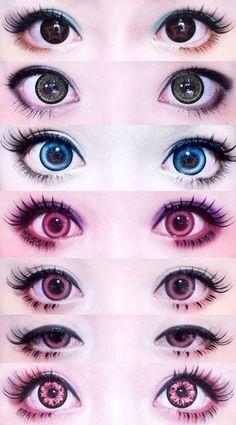 New makeup tutorial asian circle lenses ideas Pastel Goth Makeup, Gyaru Makeup, Kawaii Makeup, Cute Makeup, Makeup Art, Lolita Makeup, Anime Eye Makeup, Asian Makeup, Korean Makeup