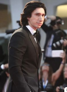 Adam Driver, clean shaven in a tux, very nice