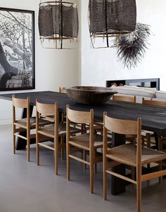 The CH36 Chair by Carl Hansen & Son as featured at Cliff Top House by Hare + Klein is one of the Authentic Dining Chairs that we are Loving Right Now - Hare & Klein Interior Design Blog