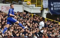 Brana flies high to head to ball towards goal