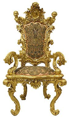 Armchair  Late 17th century  Italy.