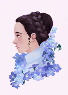 Leia & forget-me-not flowers. Rest In Peace Carrie ❤ The space mom we all needed