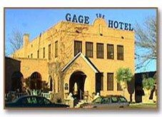 Gage Hotel in Marathon, Texas  - opened in 1927; Room 10 has the most spirit activity, however guests & staff report three different spirits here that are seen and heard walking down hallways or the patio & porch areas after dark