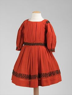 """""""Dress Date:ca. 1865 Culture:American Medium:wool Credit Line:Brooklyn Museum Costume Collection at The Metropolitan Museum of Art, Gift of the Brooklyn Museum, 2009; Gift of The Jason and Peggy Westerfield Collection, 1969 Accession Number:2009.300.930 Metropolitan Museum of Art"""""""