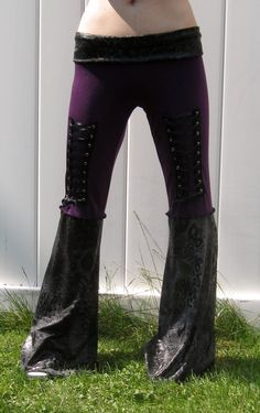 Purple and Black Leopard Corset Pants DIY by BloodshredClothing, $68.00