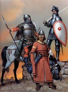 • Serbian auxiliary, 14th century  • Serbian knight, 16th century  • Bulgarian auxiliary, c. 1345