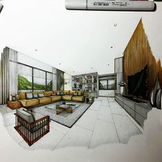 Living Area ✍ #sketch #handdrawing #perspective #interior #design #interiordesign #interiorsketch #arquisemteta #arquitetapage #papodearquiteto #archisketcher #arqsketch #arquinews #arch_more #arch_sketcher #ar_sketch #art  #mastersketch #bestsketch #flarchitect #tamainteriordesign #tamasketch