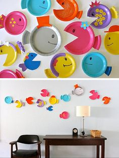 Paper Plate Fish | 12 Rainy Day Crafts for Kids | Simple & Fun Arts and Activities for Kids to Make by DIY Ready at http://diyready.com/rainy-day-craft-for-kids/