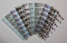 Erin Condren Life Planner Washi tape strips for weekly squares. ECLP. #erincondren