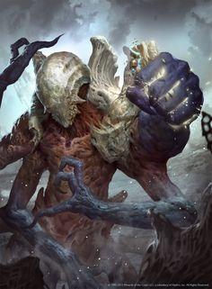 Fantasy Monster, Monster Art, Dark Fantasy Art, Fantasy Artwork, Dark Art, Magic The Gathering, Fantasy Creatures, Mythical Creatures, Mtg Art