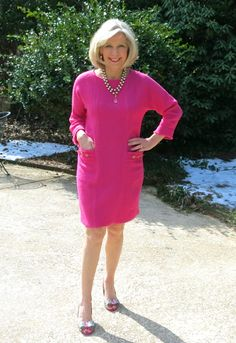 OH SO PRETTY IN HOT PINK dress - Goodbye Valentino | Hot Pink Boucle!