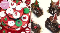 Decorate your Christmas table with creative delights! Get 50% off on 4 Mini Buche Pieces or 6 Christmas Cupcakes from Piece of Cake! #beirut #miniBuche #Christmas
