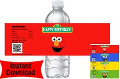 Balloons for Everything has the most extensive party balloon selection Baby Boy 1st Birthday, 2nd Birthday Parties, Birthday Balloons, Birthday Ideas, Baby Elmo, Elmo Party Decorations, Sesame Street Party Supplies, Sesame Street Birthday Invitations, Bottle Labels