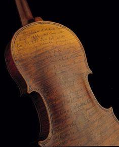 civil war violin used as war diary by Civil War soldier Solomon Conn 1863