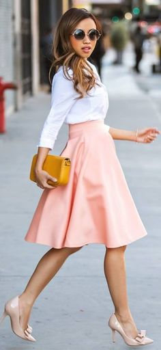 #spring #style   White On Pink On Nude  Extra petite                                                                             Source
