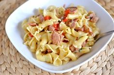 Ham and Pasta Skillet Dinner - but with smoked sausage or chicken sausage instead?