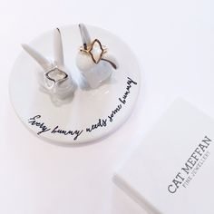Every bunny needs some bunny ring dish. Cat Meffan fine jewellery