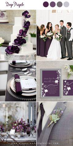 shades of purple moody romance woodland wedding colors Wedding Venue Inspiration, Wedding Themes, Our Wedding, Dream Wedding, Fall Wedding Colors, Wedding Color Schemes, Wedding Theme Purple, Wedding Dress With Purple, Purple And Gold Wedding