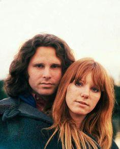 Jim Morrison & Pamela Courson, Saint-Leu-d'Esserent, June 28, 1971, a week before his passing, by Alain Ronay
