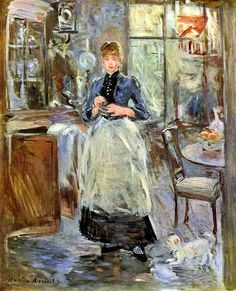Berthe Morisot: In the dining room. Wonder why she got less attention than some of her post-Impressionist peers?