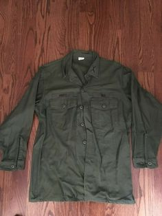 OD BDU Shirt Olive Drab Cotton Rip Stop Military Style Four Pockets Rothco 5852