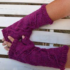 Pulswärmer - Pulswärmer Handschuhe aus Schurwolle in Tweed Look - ein Designerstück von wollkaethe bei DaWanda