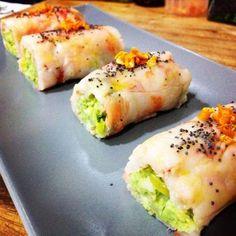 Saboreanda: Rollitos de carpaccio de langostino con aguacate