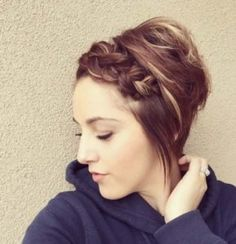 pixie with front braid