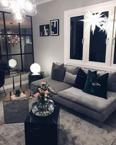 Cozy Farmhouse Living Room Decor Ideas That Make You Feel In Village Living Room Modern, Living Room Interior, Home Living Room, Home Bedroom, Home Interior Design, Living Room Designs, Living Room Decor, Living Room Inspiration, Home Decor Inspiration