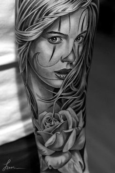 Tattoo by Jun Cha. You have to check out this artists work. Amazing.