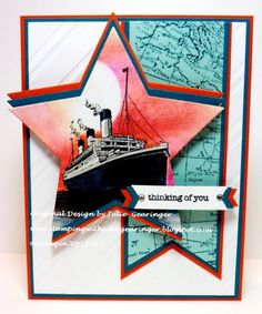 Stamping with Julie Gearinger: SUO124 Thinking of You on the Starry Sea :-)