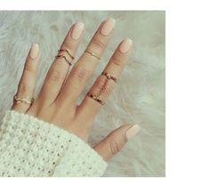 Conjunto 6 Anéis falange   Maria Biju