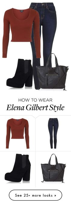 """Elena Gilbert - Topshop"" by magikate on Polyvore featuring Topshop, topshop, NinaDobrev, tvd, thevampirediaries and ElenaGilbert"