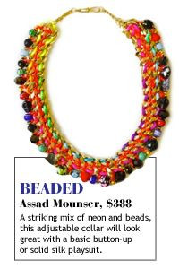 Beaded collars are hot!