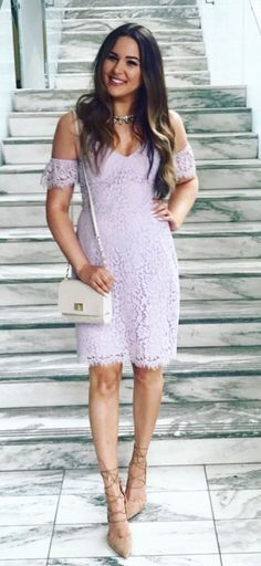 #summer #outfits Purple Lace? ✔️ Pumps That Make Your Legs Look 10x Longer? ✔️ Crossbody That Completes The Ensemble ✔️ I Wore This Outfit As I Got To Watch My Gorgeous Cousin @alkehoe Marry The Man Of Her Dreams And It Was Perfect.  // Shop This Outfit in The Link