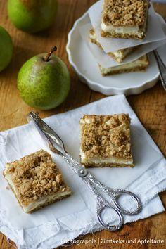 Birnen-Cheesecake mit Crunchy-Streuseln .... so schmeckt mir der Herbst