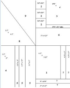 """One Sheet Wonder 9 cards from an 8 1/2"""" x 11"""" paper.  Click to see all cards.  *On section #8, the measurements shown should read 5.5"""" x 4.25"""" not 4.5"""""""