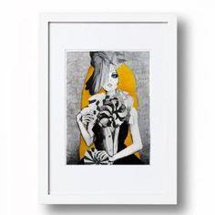 Graphic Fan Girl | Signed Artist's Print | Various Sizes for easy framing | Sarah Carter Jenkins