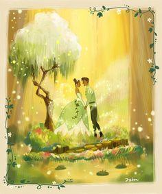 The princess and the frog by Nin1731.deviantart.com on @DeviantArt