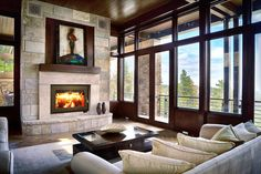 RSF Focus 320 high-efficiency factory-built fireplace - Monroe Fireplace