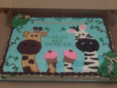 BUTTER CREAM FROSTING BABY SHOWER GIRAFFE CAKES IMAGES | Its a Piece of Cake Creations