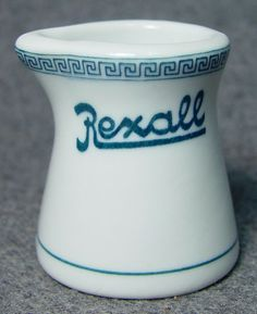 Rexall Drug Store Hotel Restaurant Soda Fountain Logo Advertising China Creamer