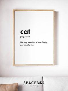 Cat Print Cat Poster Cat Definition Print Word Definition