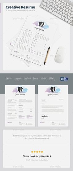 Resume Template Template, Resume layout and Resume cv - template for resumes
