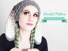 Crochet Bunny Hat Pattern Bunny Ears Beanie by TheHighbrowHookers